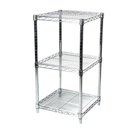 chrome wire shelving unit with 3 shelves larger photo email a friend - Chrome Wire Shelving